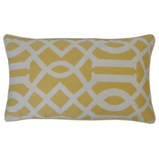 Lattice Yellow Geometric 12x20-inch Pillow
