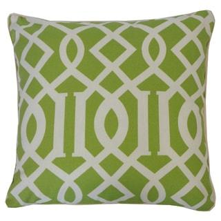 Lattice Lime Geometric 20x20-inch Pillow