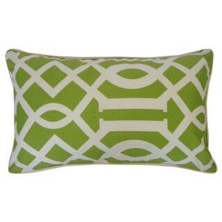 Lattice Lime Geometric 12x20-inch Pillow