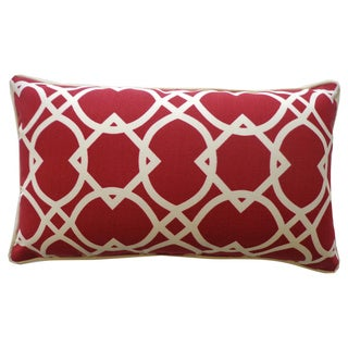 Lattice Red Geometric 12x20-inch Pillow