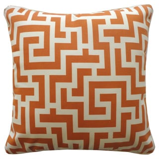 Tetris Orange Geometric 20x20-inch Pillow