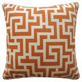 Tetris Orange Geometric 20x20-inch Pillow