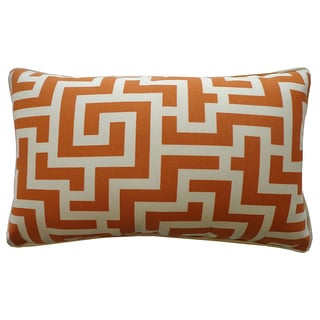 Tetris Orange Geometric 12x20-inch Pillow