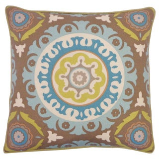 Zanihe Green Geometric 20x20-inch Pillow