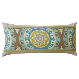 Zanihe Green Geometric 12x20-inch Pillow