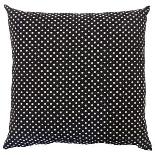 Pin Black Kids Polka Dot 20x20-inch Pillow