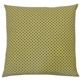 Pin Yellow Kids Polka Dot 20x20-inch Pillow