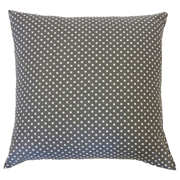 Pin Grey Kids Polka Dot 20x20-inch Pillow