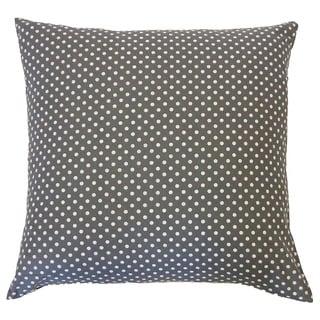 Pin Grey Kids Polka Dot 20x20-inch Pillow