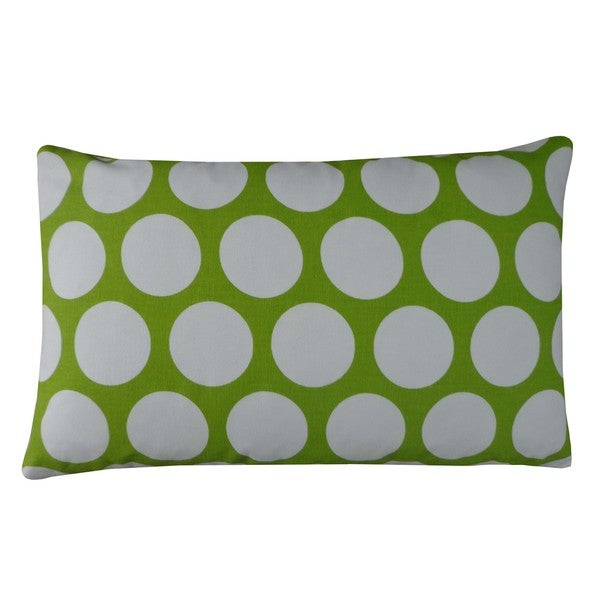 Polka Dot Lime Kids Polka Dot 12x20-inch Pillow