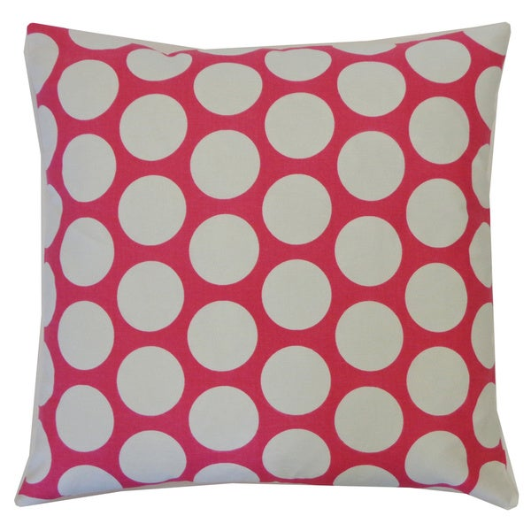 Polka Dot Pink Kids Polka Dot 20x20-inch Pillow