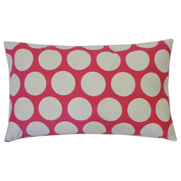 Polka Dot Pink Kids Polka Dot 12x20-inch Pillow