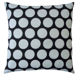 Polka Dot Black Kids Polka Dot 20x20-inch Pillow