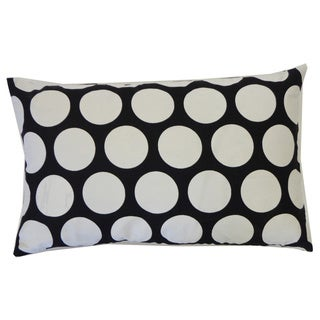 Polka Dot Black Kids Pillow Polka Dot 12x20-inch Pillow