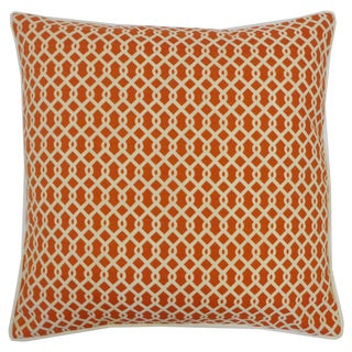 Grid Orange Geometric 20x20-inch Pillow