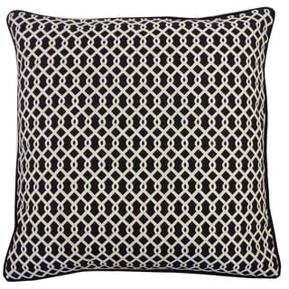 Grid Black Geometric 20x20-inch Pillow