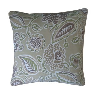 Lavenderia Brown Floral 20x20-inch Pillow