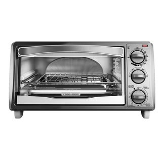 Black & Decker TO1313SWD 4-slice Metallic and White Toaster Oven