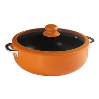 IMUSA Silicone Rim Non-stick Orange Caldero