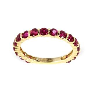 Sonia Bitton 14k Yellow Gold Ruby Semi-eternity Ring