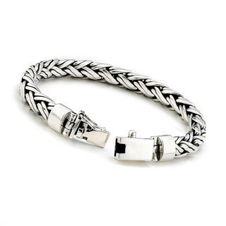Samuel B Imperial Men's Braided Wheat Bracelet