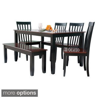 Solid Hardwood Two-tone 6-piece Dining Set