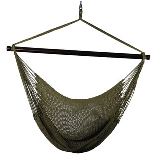 Algoma Hanging Tan Polyester Rope Chair
