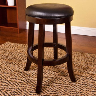 Rich Cherry Swivel Stool
