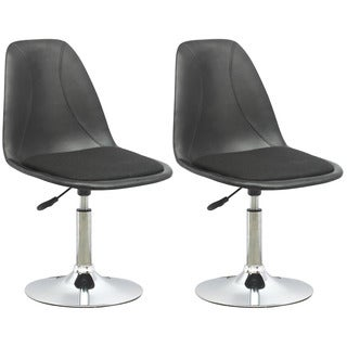 CorLiving DPV-506-B Black Leatherette Adjustable Barstools (Set of 2)