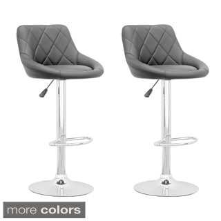 CorLiving Adjustable Diamond Back Leatherette Barstool (Set of 2)