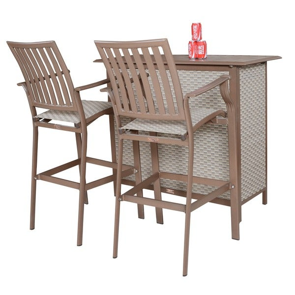Panama Jack Island Breeze 3-piece Slatted Bar Set 13253171
