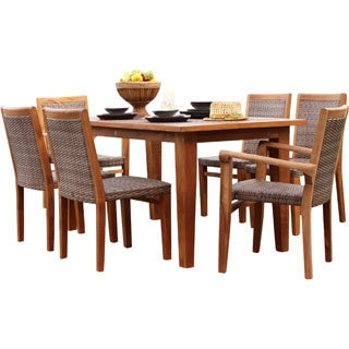 Panama Jack Leeward Islands Natural Teak 7-piece Dining Set