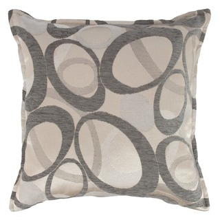 Sherry Kline 20-inch Oh Graphite Decorative Feather and Down Filled Throw Pillow