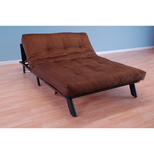 Christopher Knight Home Elroy Frame/Black Finish/Suede Chocolate Futon