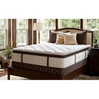 Stearns and Foster Beckinsale-Balerno Luxury Firm Euro Pillowtop Cal King-size Mattress Set