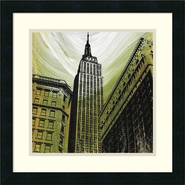 Erin Clark 'Gilded Empire' Framed Art Print 18 x 18-inch
