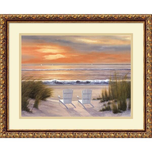 Diane Romanello 'Paradise Sunset' Framed Art Print 22 x 18-inch