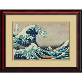 Katsushika Hokusai 'The Great Wave off the Coast of Kanagawa' Framed Art Print 26 x 20-inch