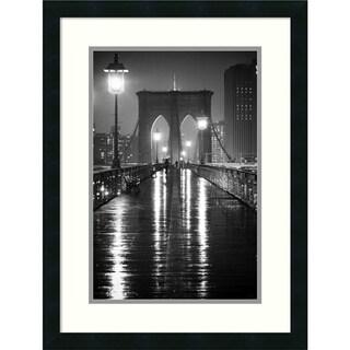 Oleg Lugovskoy 'Brooklyn Bridge' Framed Art Print 19 x 25-inch