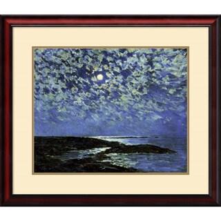 Frederick Childe Hassam 'Moonlight, Isle of Shoals 1892' Framed Art Print 31 x 27-inch