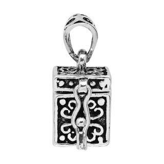 Christian Prayer Box Locket Sterling Silver Pendant (Thailand)