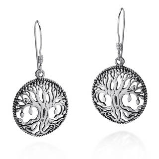 Mystical Bloom Celtic Tree of Life .925 Silver Earrings (Thailand)