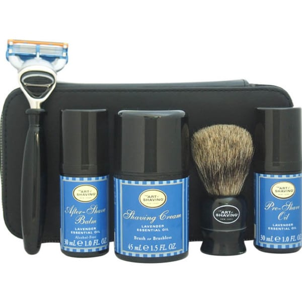 The Art of Shaving for Men 7-piece Lavender Travel Kit