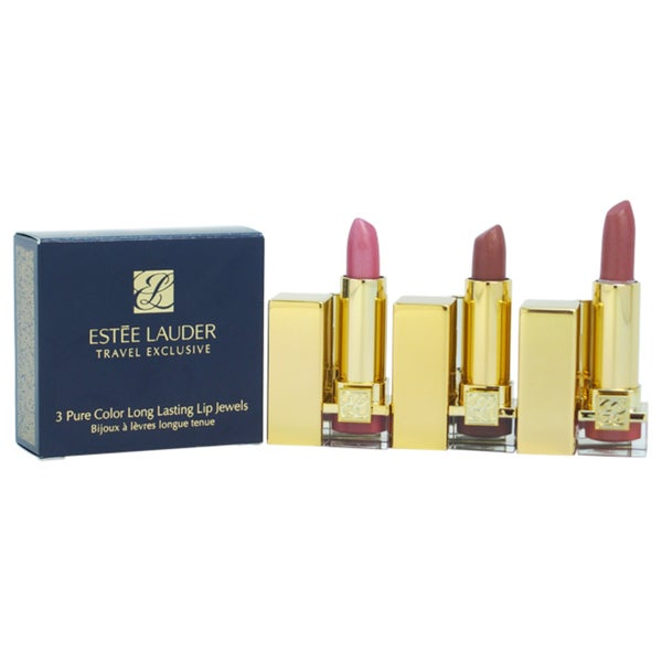 Estee Lauder 3 Pure Color Long Lasting Lip Jewels Trio