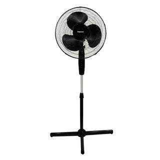 Impress IM-717B Black 16-inch Oscillating 3-speed Stand Fan