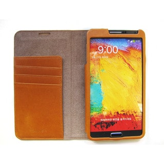 Handmade Premium Leather Samsung Galaxy Note 3 Wallet Case Cover