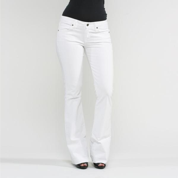 Rich & Skinny Women's Dottie Flare Jeans in White
