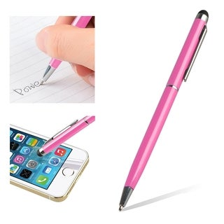 BasAcc Pink 2-in-1 Capacitive Touch Screen Stylus Black Ballpoint Pen