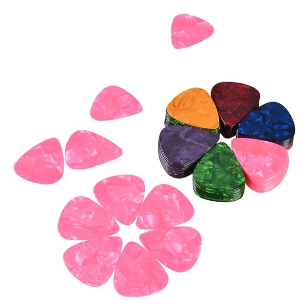 INSTEN 0.71-mm Celluloid Multi-color Guitar Ukulele Bass Acoustic Picks (Pack of 100)