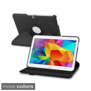 INSTEN 360 Swivel Rotating Stand Leather Tablet Case Cover for Samsung Galaxy Tab 4 10.1
